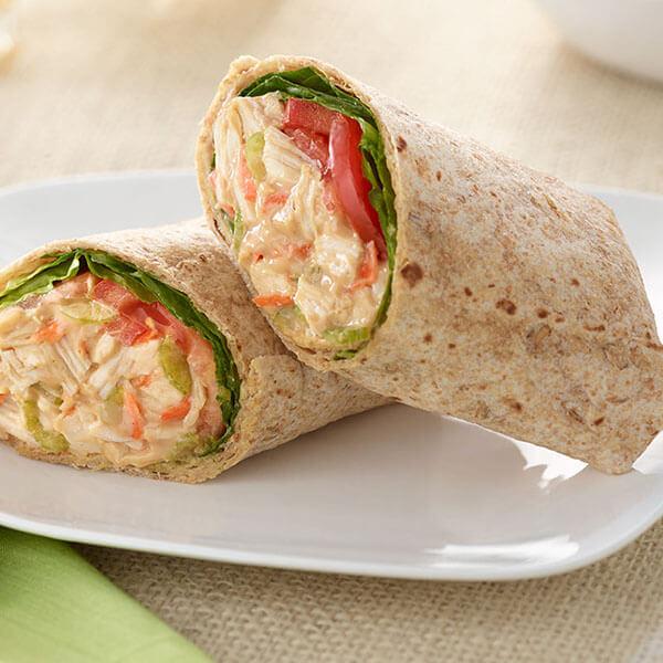 SKIPPY<sup>®</sup> Oriental Chicken and Peanut Butter Wraps / SKIPPY<sup>®</sup> Orientalisk Kyckling och Jordnötssmörwraps