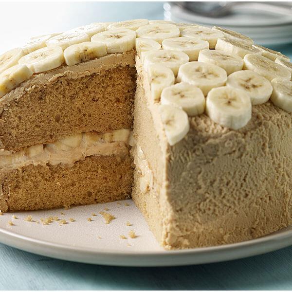 SKIPPY<sup>®</sup> Caramel Peanut Butter Cake / SKIPPY<sup>®</sup> Karamell Jordnötssmörkaka