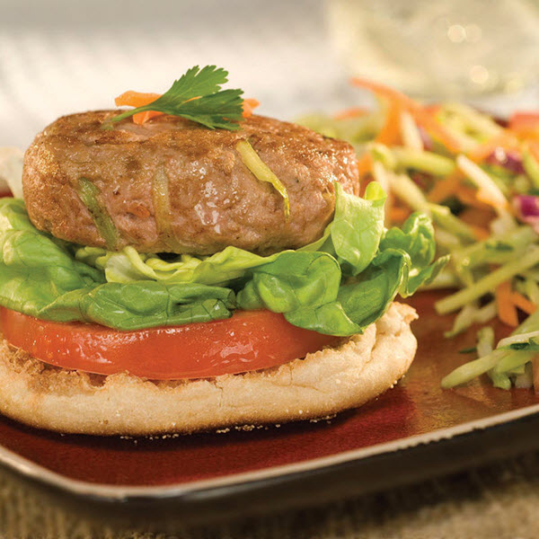 SKIPPY<sup>®</sup> Open-Face Oriental Turkey Burgers / SKIPPY<sup>®</sup> Open-Face Orientaliska Turkiska Burgare