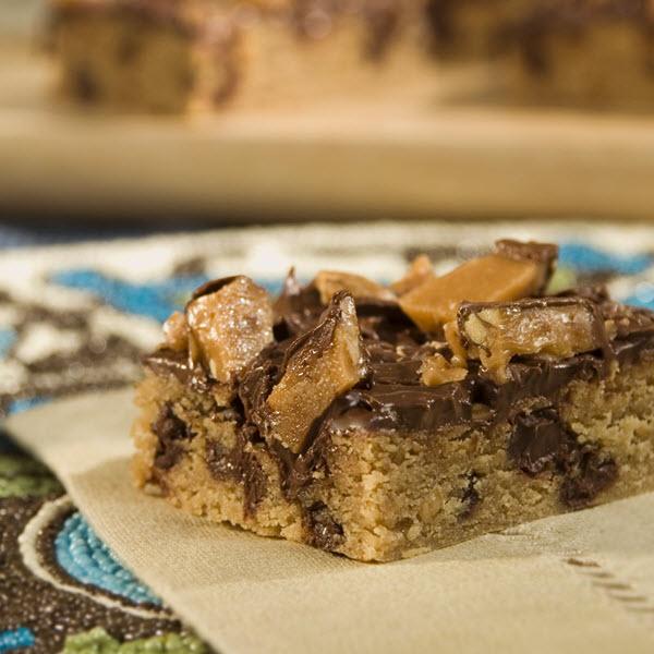 Peanut Butter Toffee Bars / Jordnötssmör och kolagodis