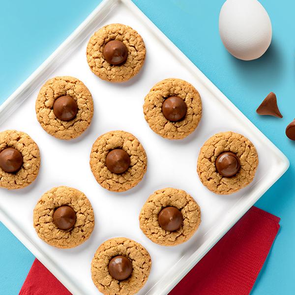 Peanut Butter Chocolate Drop Cookies / Kakor med jordnötssmör och chokladdroppar