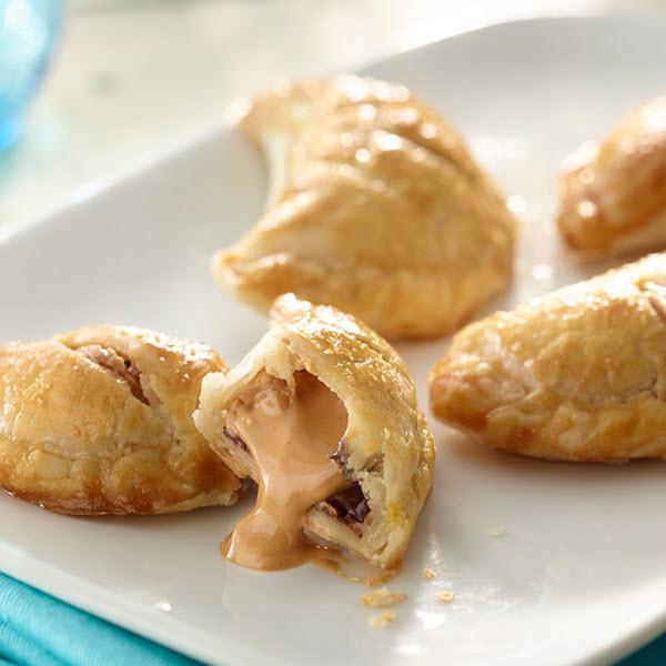 Peanut Butter and Chocolate Croissants / Jordnötssmör och Chockladcroissanter
