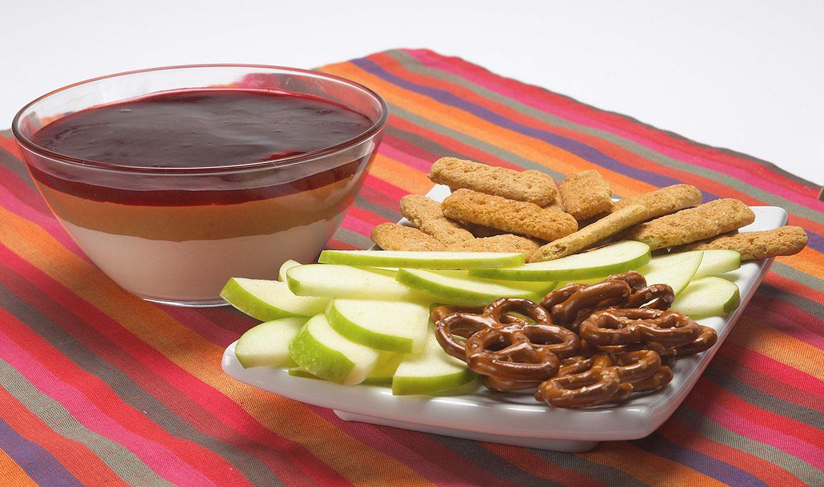 Warm Peanut Butter & Jelly Dip / Varm dip med jordnötssmör och sylt
